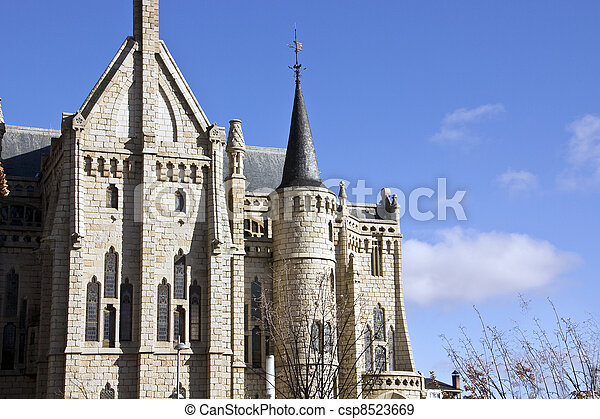 Gaudi palace (Astorga, Spain) - csp8523669