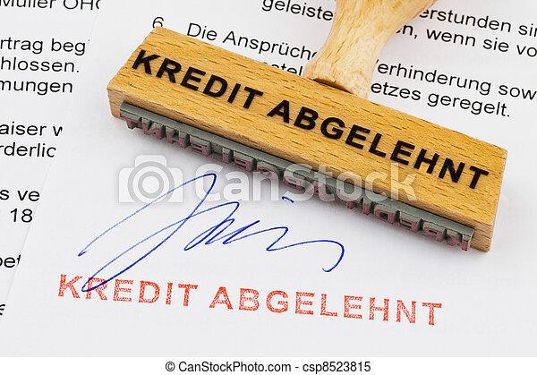 holzstempel credit rejected - csp8523815