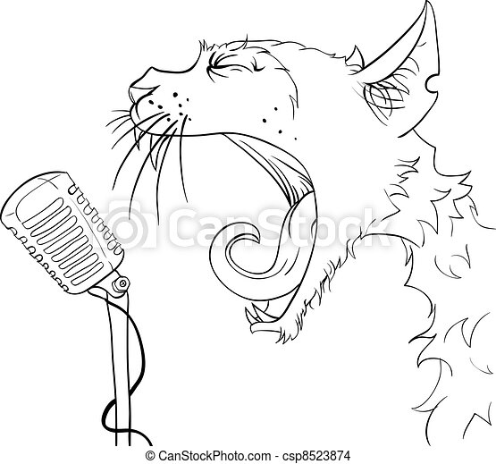 Cat yells - csp8523874