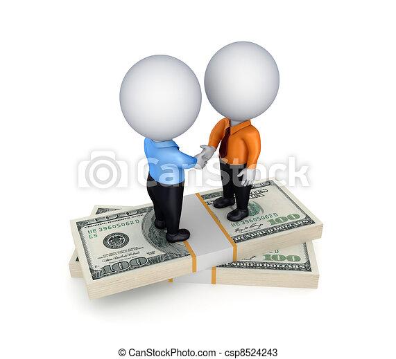 Businesspeople shaking hands. - csp8524243