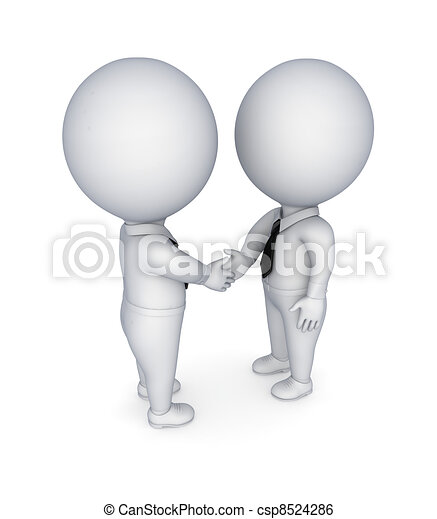 Businesspeople shaking hands. - csp8524286