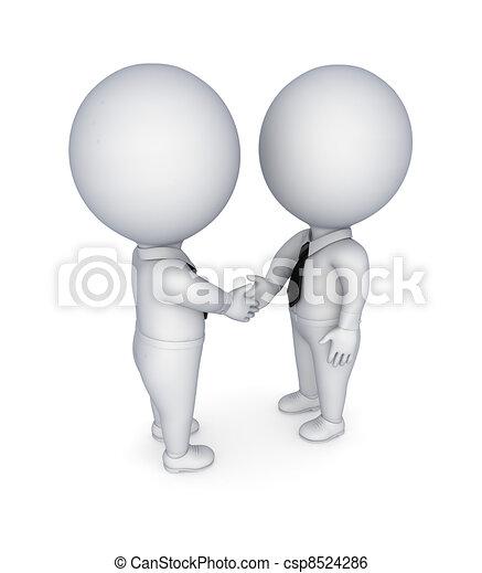 Businesspeople shaking hands. - csp8524286