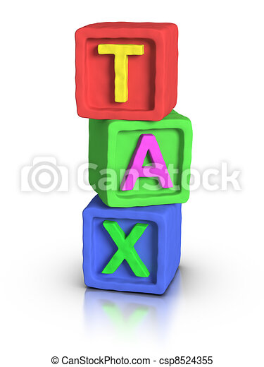 Play Blocks : TAX - csp8524355
