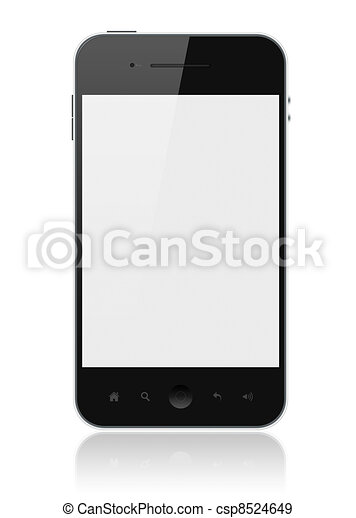 Smart Phone With Blank Screen Isolated - csp8524649