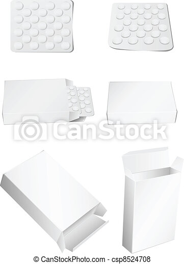 box and pills - csp8524708