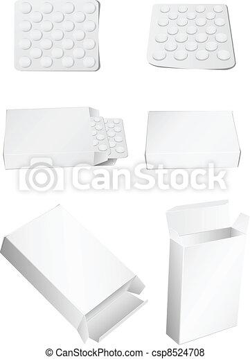 box and pills - csp8524708