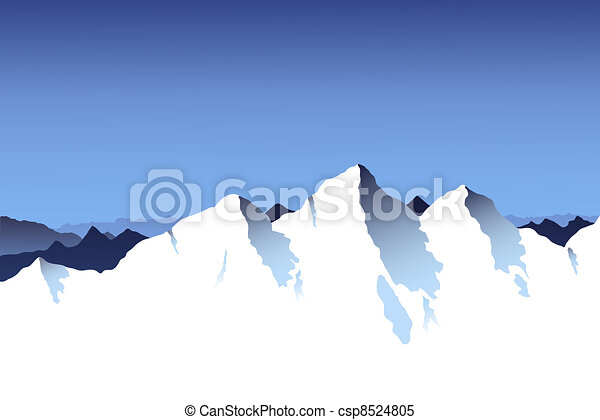 Mountain Range Background - csp8524805