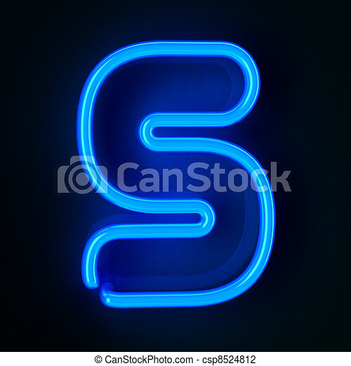 Neon Sign Letter S - csp8524812