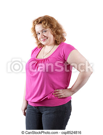 fat ugly woman - csp8524816