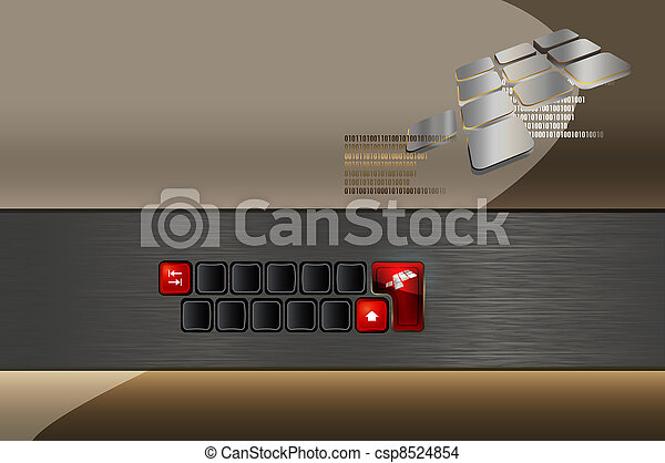 Creative background for your business card.