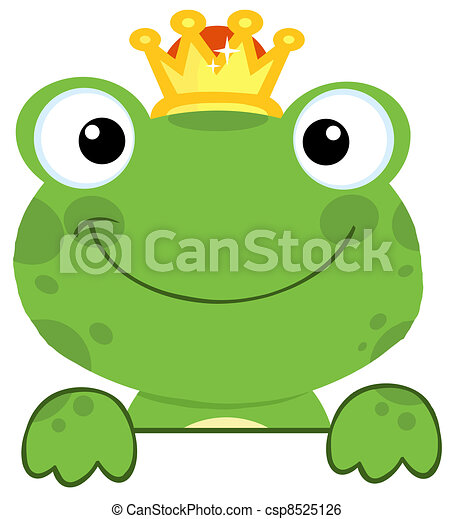 Cute Frog Prince - csp8525126