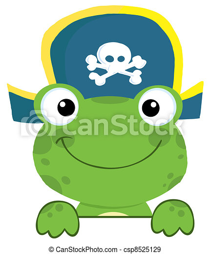 Frog With Pirate Hat  - csp8525129