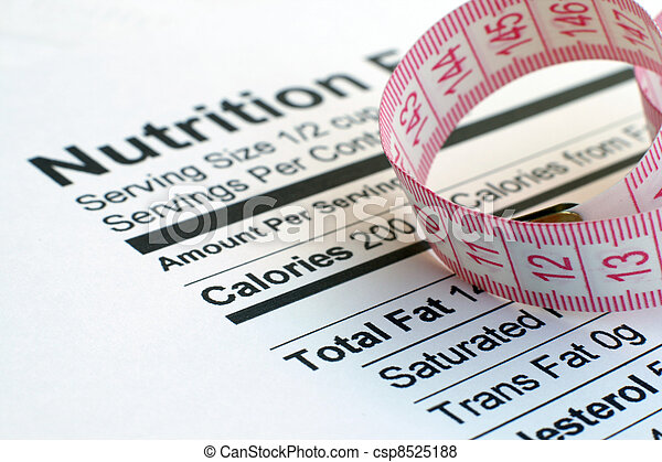 Nutrition facts and measure tape - csp8525188