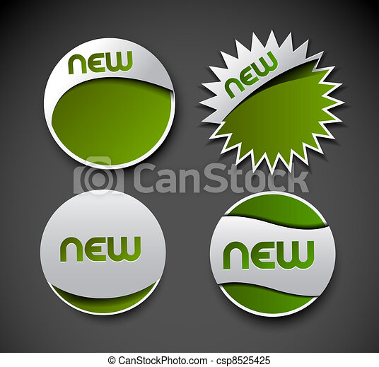 Design of advertisement labels stickers - csp8525425