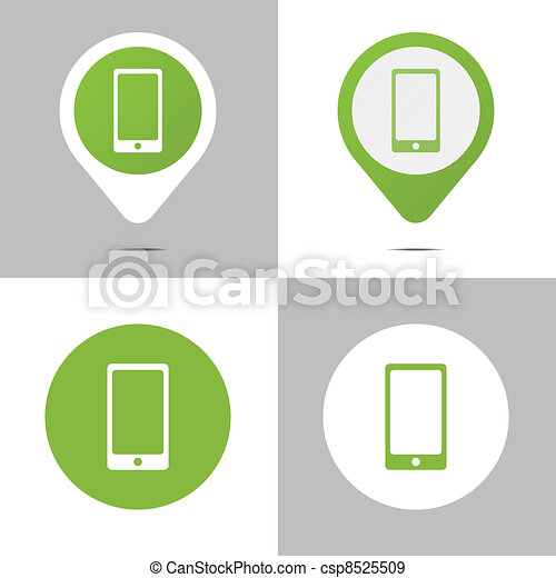 Digital Book Icons - csp8525509