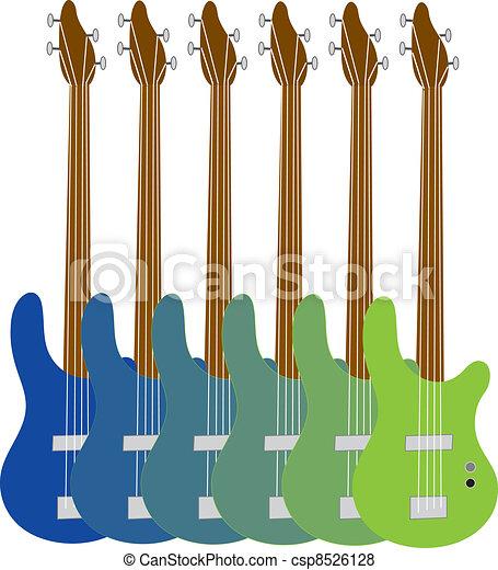 Colorful Bass Guitars - csp8526128