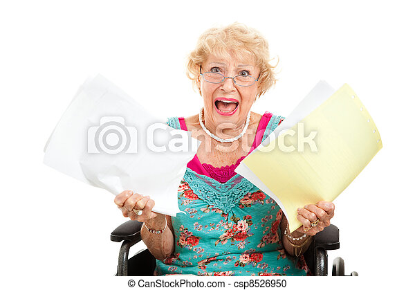 Frustrated by Medical Bills - csp8526950