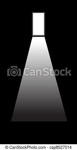 door in darkness - csp8527014