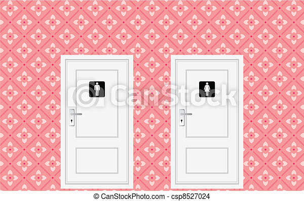 toilet doors - csp8527024