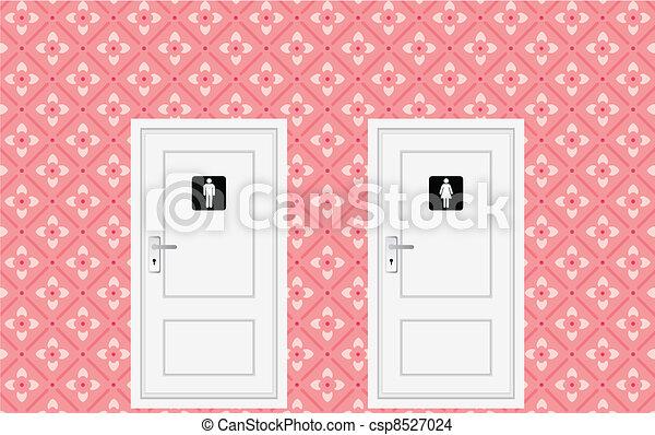 toilet doors - csp8527024