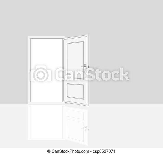opened door, room interiors - csp8527071