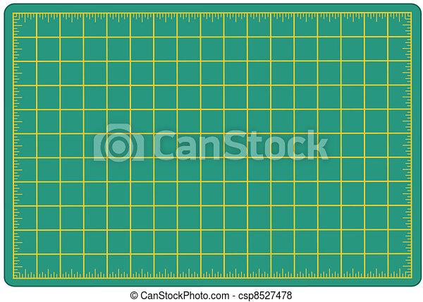 Vector Of Cutting Mat Green Green Self Healing Mat For