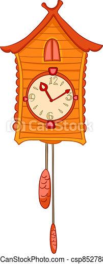 Cartoon Home Clock - csp8527885