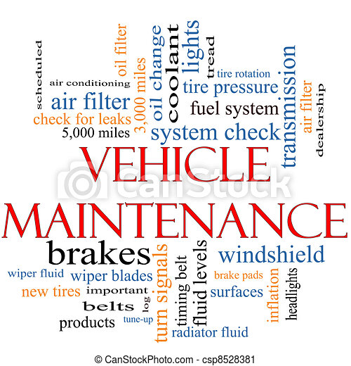 Vehicle Maintenance Word Cloud Concept - csp8528381