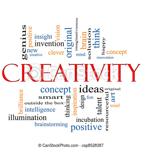 Creativity Word Cloud Concept - csp8528387