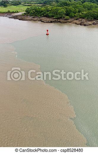 Mud disturbed by ships transiting Culebra Cut - csp8528480