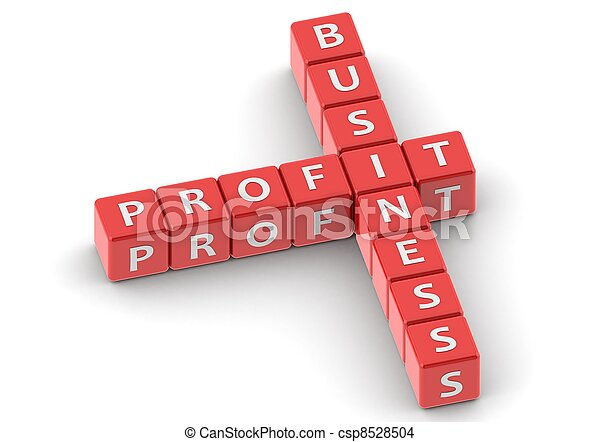 Buzzwords: business profit - csp8528504