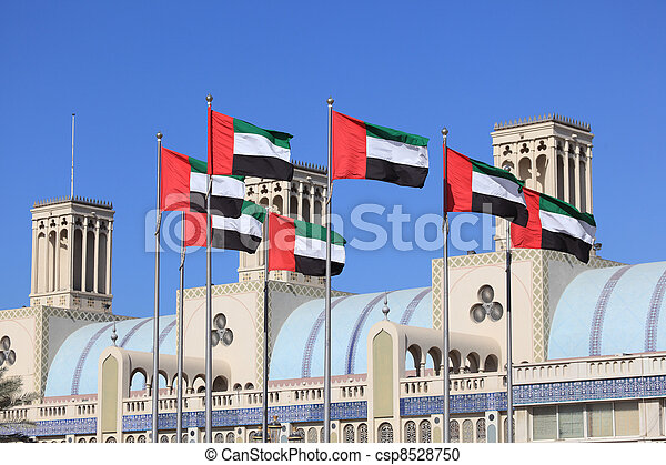 Flags of the United Arab Emirates - csp8528750