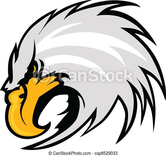 Eagle Mascot Head Vector Graphic - csp8529033