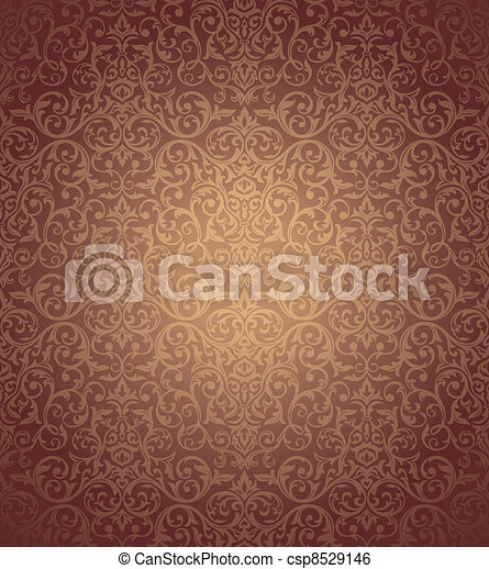 floral seamless wallpaper - csp8529146
