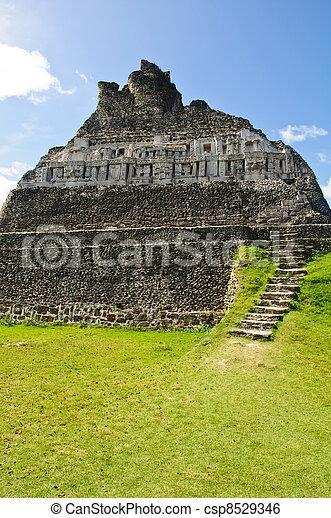Mayan Ruin - Xunantunich in Belize - csp8529346