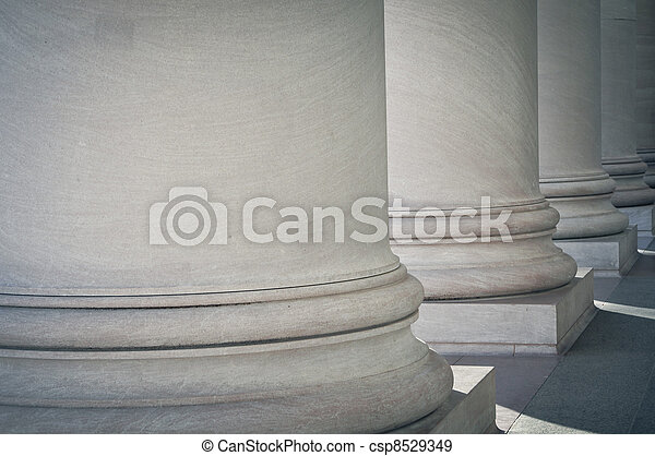 Pillars of Law and Education - csp8529349