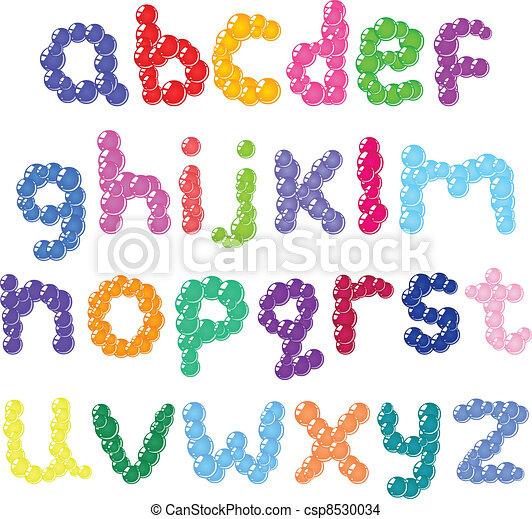 Lower case bubbles alphabet - csp8530034