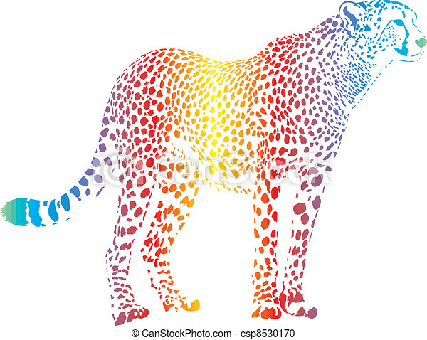Abstract rainbow cheetah - csp8530170