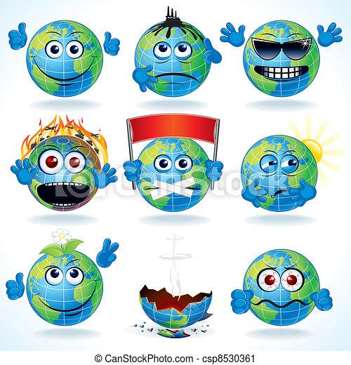 Cartoon Earth - csp8530361