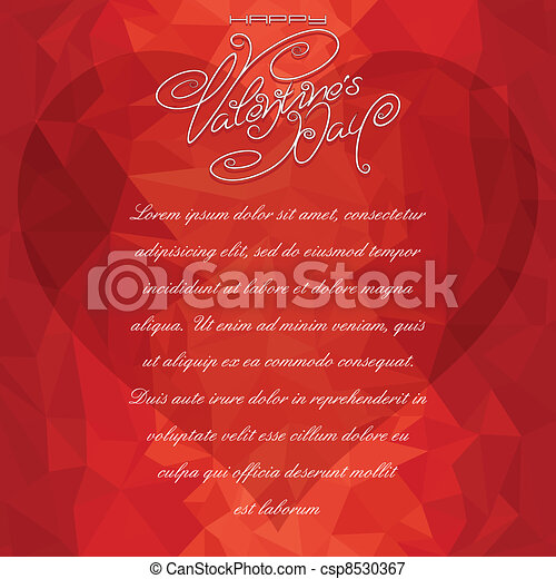Valentine Card Backdrop - csp8530367