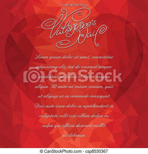 Valentine Card Backdrop - csp8530367
