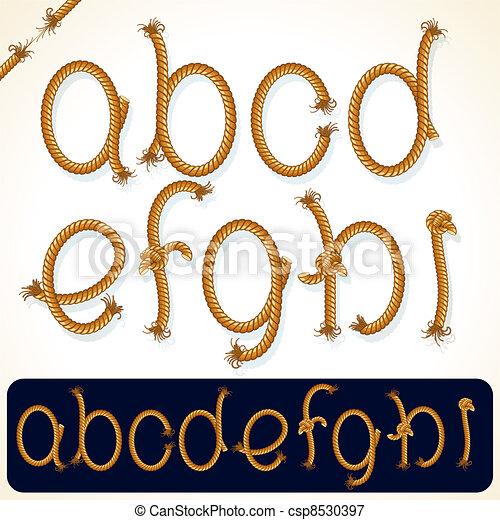 Rope Alphabet 1 - csp8530397