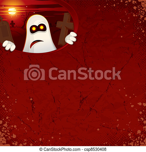 Halloween Background with Ghost - csp8530408
