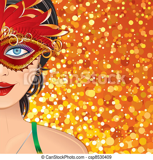 Carnival Girl Background - csp8530409