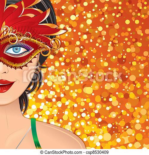 Carnival Girl Background - csp8530409