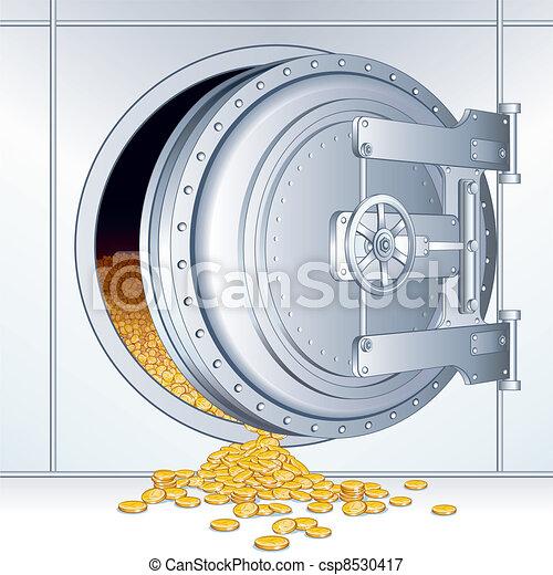 Opened Bank Storage - csp8530417
