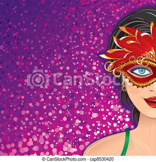 Festive Carnival Background - csp8530420