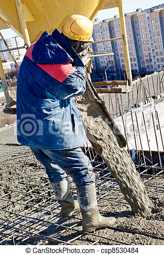 Concrete pouring works - csp8530484