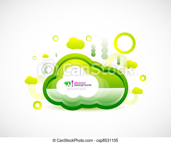 Clean cloud green space concept - csp8531105
