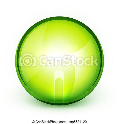 Green light bublb energy saving concept - csp8531120